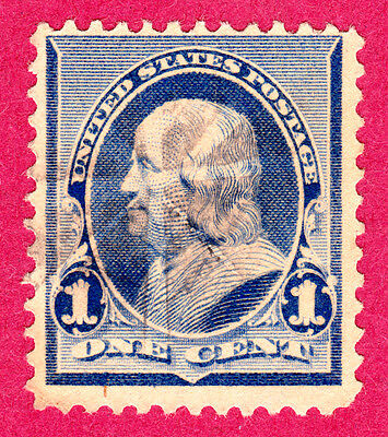 United States Stamps. 1890 1c Franklin. SG224. Used. #3855