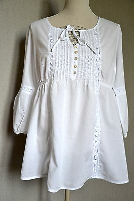 Tunique Grossesse Blanche avec broderies H&M Taille 38