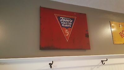 Original Tom's Peanuts metal sign, 1950s
