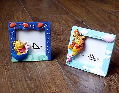Pair of cute Disney 3D photo/picture frames - Winnie the Pooh, Tigger, Piglet
