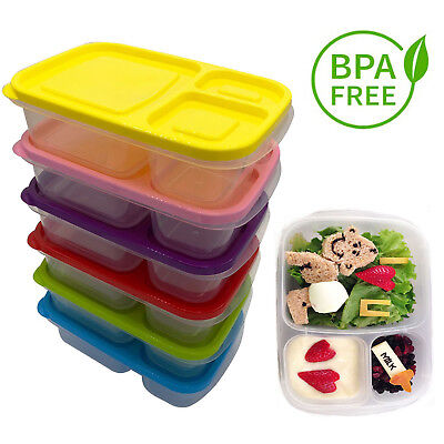 3-4-5-6-Sets Of Bento Lunch Boxes Food Storage Meal Container With Lids For Kids