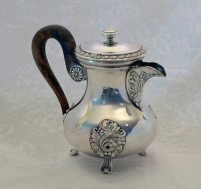 Antique Christofle & Co French Coffee Pot Silverplate Cats Head Mark Vienna