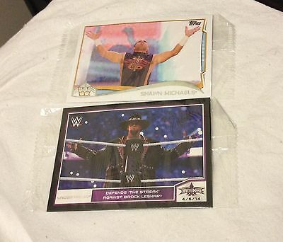 WWE PROMOTIONAL TRADING CARDS  NEW Topps 2014 Undertaker & Shawn Michaels