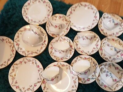 Hand Painted Aynsley Tea Set , 26 Pieces