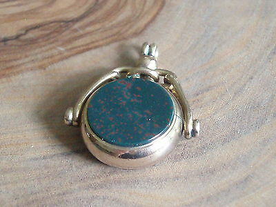 Antique Victorian 9Ct Gold Scottish Agate Swivel Watch Chain Fob