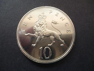 1984 Brilliant Uncirculated Ten Pence Piece. 1984 10P Only Issued For Sets.