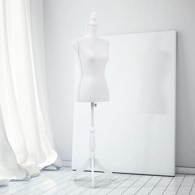 Female Mannequin Torso Dress Form Pinnable Size with Solid Tripod Stand N%@