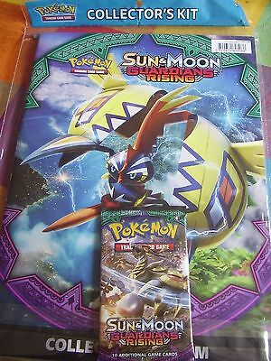 Pokemon Trading Card Game Collectors Kit Album Sun & Moon Guardians Rising New
