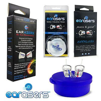 EARASERS Ear Plugs Musician Earplugs, Peace & Quiet, Industrial Plugs Variations