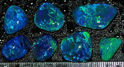 47.40 Carats Of Solid Gem Quality Lightning Ridge Rubbed Opal Parcel