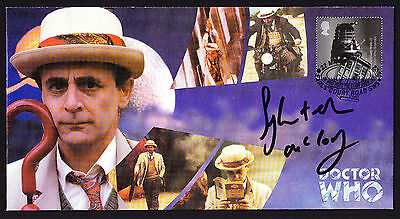 Science Fiction DR WHO visits stamp show 2000 cover Sylvester McCoy Signed SciFi