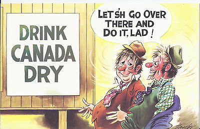 Vintage 1970's Bamforth COMIC Postcard (as new condition) Canada Dry #311