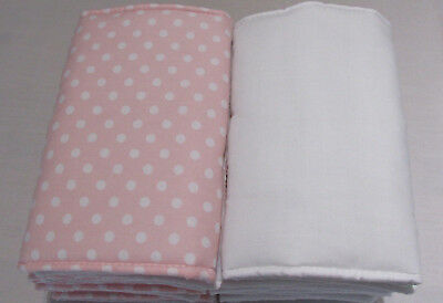 New **Babies Baby Pink & white spots Individual Cot Bumpers**(Large - pack of 8)