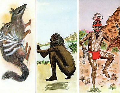 """3 NICE Vintage Australian """"Cards of Expression"""" Indigenous pictures - blank"""