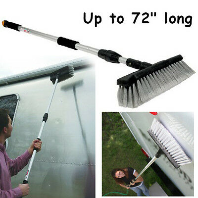 RV Car Wash Brush Adjustable Long Handle Truck Camper Vehicle Cleaning Home Tool