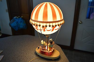 Vintage Dolly Toy Co Hot Air Balloon Lamp Children's Night Light 3 Way COMPLETE!