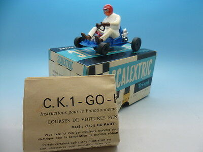 Scalextric French K1 Go.Kart, in mint condition light blue and french box and in