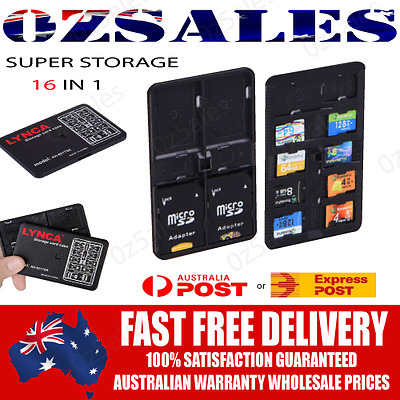 BRAND NEW Memory Card Storage Case Micro SIM Card SD TF PIN Holder Protecter