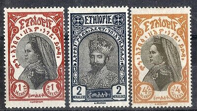 Ethiopia.  1928.  Definitive.   SG226-228.  Mint.