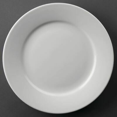 Athena Wide Rimmed Dinner Plates - Pack of 12 | Service Dinnerware Tableware