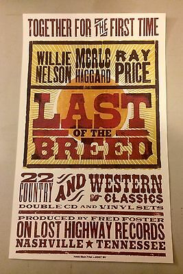 Willie Nelson Merle Haggard Ray Price Last of The Breed Promo Hatch Poster