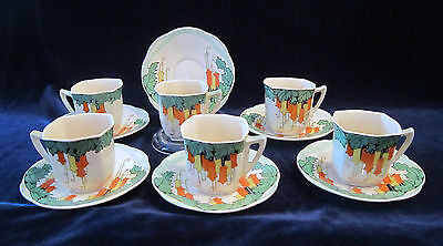 Royal Doulton Maybells D5202 Demitasse Cups & Saucers - Set of 6 (RN 764873)