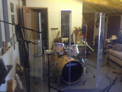 Clearsonic Perspex Acoustic Drum Screen