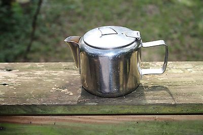 Old Hall England G.M. Hotels 18/8 Stainless steel covered creamer