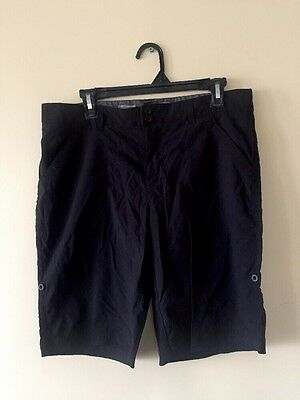 NWT Cloudveil Women's Hiking Bermuda Black Shorts Size L