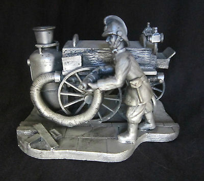 Vintage Tudor Mint Pewter Collection - Fireman - signed by Steven Platt - NIB