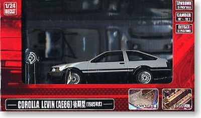 1/24 DISM Toyota Corolla Levin AE86 1985 White late INITIAL D PROJECT D