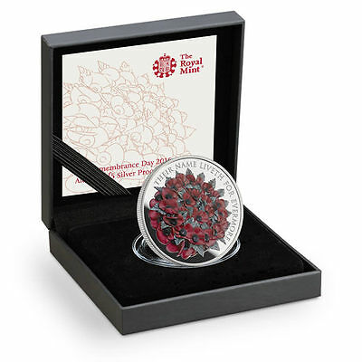 The Royal Mint Remembrance Day 2016 Alderney £5 Silver Proof Coin-RD16SP
