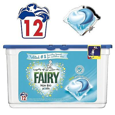 Fairy Non-Bio Pods Laundry Detergent Washing Capsules Sensitive Skin - 12 Washes