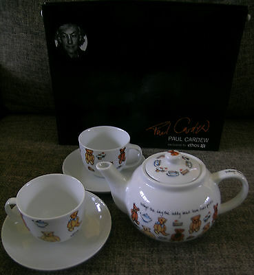 Paul Cardew Ethos Tea Set 2 Cups & Saucers + Matching Teapot Teddy Bears Picnic