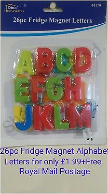 Fridge Reminders Magnetic Alphabet A-Z Letters Kids Learning Educational Toys