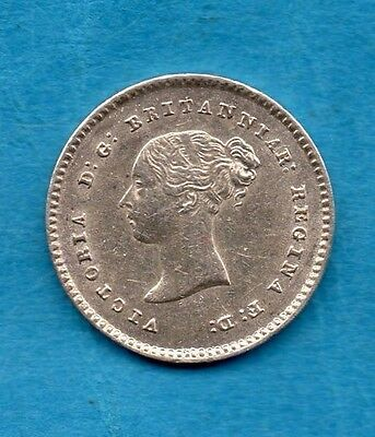 1838 Queen Victoria Silver Twopence Coin.  Maundy Style. In Lovely Condition.