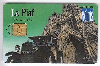 Piaf Parking Carte / Card .. 75U Reims 51 Auto Car 2.800Ex 10/06 Be Chip/puce