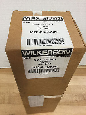 "Wilkerson M28-03-Bk00 Coalescing Filter 3/8"" Npt *new"
