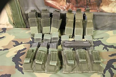 1 Lot Of 4 Od Heavy Duty Molle Triple Pistol Mag Pouches Light Use Manufacturer?