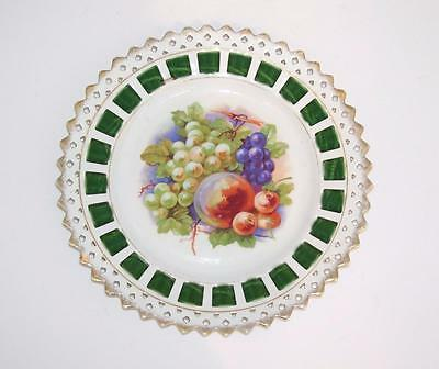 Antique Fruit Scene Ribbon Plate.
