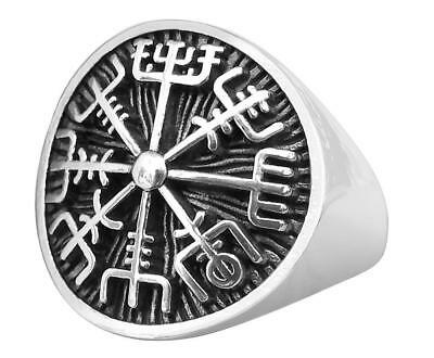 Sterling  Silver  (925)  Vegvisir  Asatru  Compass   Ring   !!     Brand New  !!