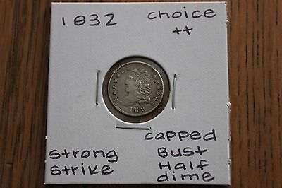 1832  Strong Strike  Choice++  Capped Bust Half Dime
