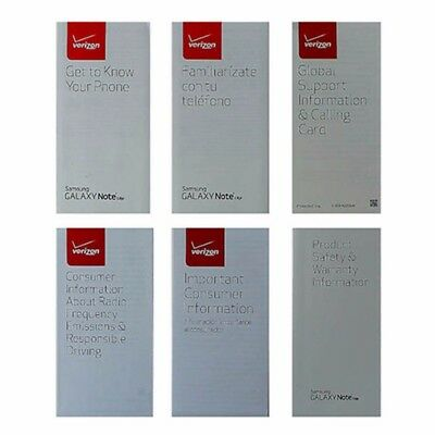 Manual and Information Pack for Samsung Galaxy Note Edge - Verizon Branded