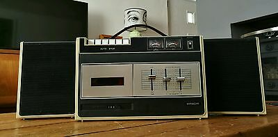 Vintage Hitachi TRQ-233S Portable Stereo Cassette Player 1973