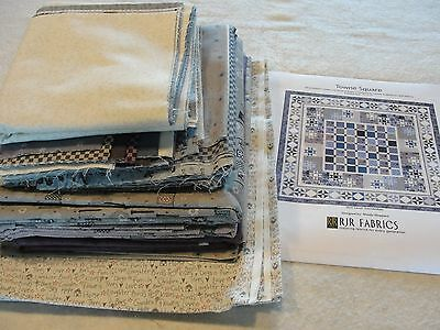 """TOWNE SQUARE Quilt Kit Quilter's Garden and Bread & Butter Collections 77x77"""""""