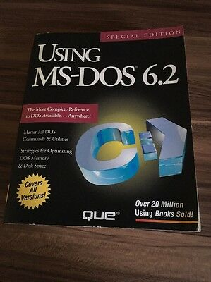 Using MS-DOS 6.2 User Guide