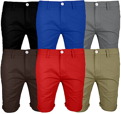 Mens Chino Shorts Cotton Summer Casual Jeans Cargo Combat Half Pant All Size