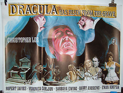 Dracula Has Risen From The Grave British Quad Poster