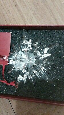 BACCARAT Courchevel Snowflake NOEL Christmas Ornament, New in Box