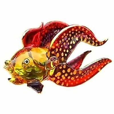Handmade Goldfish Collectible Figurines (Lucky Fish) Art Glass Blown Aquatic